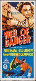 "Movie Posters:Action, Web of Danger (20th Century Fox, 1951). Australian Daybill (13.25""X 30""). Action.. ..."