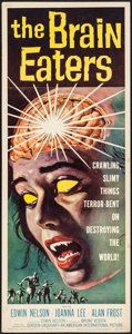 "Movie Posters:Horror, The Brain Eaters (American International, 1958). Insert (14"" X36""). Horror.. ..."