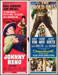 """Movie Posters:Western, Johnny Reno & Others Lot (Paramount, 1966). Inserts (3) (14"""" X 36""""). Western.. ... (Total: 3 Items)"""