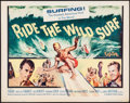 "Movie Posters:Sports, Ride the Wild Surf (Columbia, 1964). Half Sheet (22"" X 28""). Sports.. ..."