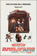 "Movie Posters:Western, 100 Rifles (20th Century Fox, 1969). One Sheet (27"" X 41"").Western.. ..."