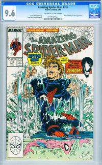 The Amazing Spider-Man #315 (Marvel, 1989) CGC NM+ 9.6 Off-white to white pages