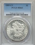 1885-CC $1 MS63 PCGS. PCGS Population: (5514/13305). NGC Census: (2814/6148). CDN: $745 Whsle. Bid for problem-free NGC/...