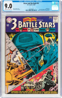 The Brave and the Bold #52 3 Battle Stars (DC, 1964) CGC VF/NM 9.0 Cream to off-white pages