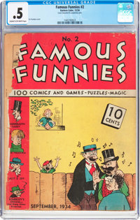 Famous Funnies #2 (Eastern Color, 1934) CGC PR 0.5 Cream to off-white pages
