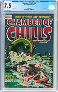 Golden Age (1938-1955):Horror, Chamber of Chills #26 (Harvey, 1954) CGC VF- 7.5 Cream to off-whitepages....