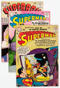 Superman/Superboy Group of 3 (DC, 1957-61) Condition: Average VG-.... (Total: 3 Comic Books)