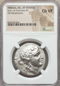 Ancients:Greek, Ancients: THRACIAN ISLANDS. Thasos. Ca. 148-90 BC. AR tetradrachm.NGC Choice VF....