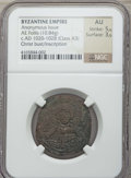 Ancients:Byzantine, Ancients: Anonymous Class A3 (ca. 1020-1028). AE follis (10.84 gm).NGC AU 5/5 - 3/5....