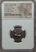 Ancients: SICILY. Syracuse. Ca. 344-317 BC. AR stater (8.44 gm). NGC Choice VF 5/5 - 4/5, Fine Style