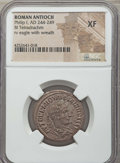 Ancients:Roman Provincial , Ancients: SYRIA. Antioch. Philip I (AD 244-249). BI tetradrachm.NGC XF....