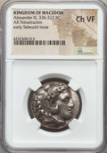 Ancients:Greek, Ancients: MACEDONIAN KINGDOM. Alexander III the Great (336-323 BC).AR tetradrachm. NGC Choice VF....