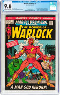 Bronze Age (1970-1979):Superhero, Marvel Premiere #1 Warlock (Marvel, 1972) CGC NM+ 9.6 Off-white towhite pages....