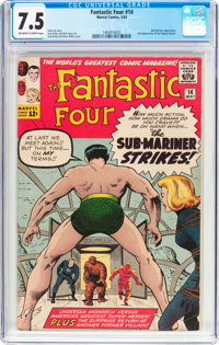 Fantastic Four #14 (Marvel, 1963) CGC VF- 7.5 Off-white to white pages