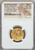 Ancients:Byzantine, Ancients: Phocas (602-610). AV solidus (4.44 gm). NGC MS 5/5 - 2/5, wrinkled....