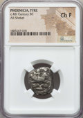 Ancients:Greek, Ancients: PHOENICIA. Tyre. Ca. 393-389 BC. AR shekel. NGC ChoiceFine....