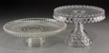 Other:Contemporary, Two Molded Glass Cake Stands, 20th century. 12-3/8 inches diameter(31.4 cm) (widest). ... (Total: 2 Items)