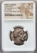 Ancients:Greek, Ancients: ATTICA. Athens. Ca. 440-404 BC. AR tetradrachm (17.19gm). NGC MS 4/5 - 3/5....