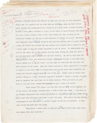 Jack Kerouac (John Louis Kerouac). Original Typescript of The Dharma Bums (published October 2