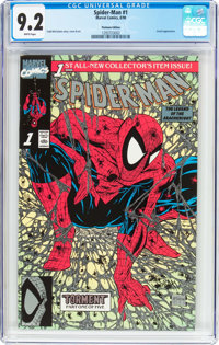 Spider-Man #1 Platinum Edition (Marvel, 1990) CGC NM- 9.2 White pages