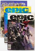 Magazines:Science-Fiction, Epic Illustrated Group of 33 (Marvel, 1980-86) Condition: AverageVF/NM.... (Total: 33 Comic Books)
