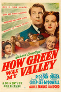 """Movie Posters:Drama, How Green Was My Valley (20th Century Fox, 1941). One Sheet (27"""" X 41"""") Style B.. ..."""