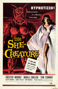"Movie Posters:Science Fiction, The She-Creature (American International, 1956). One Sheet (27"" X 41"") Albert Kallis Artwork.. ..."