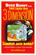"""Movie Posters:Animation, Lumber Jack-Rabbit (Warner Brothers, 1954). One Sheet (27"""" X 41"""")3-D Style.. ..."""