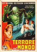 "Movie Posters:Horror, The Creature Walks Among Us (Universal International, 1956).Italian 2 - Fogli (39"" X 55"") Carmellini Art.. ..."