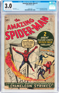 The Amazing Spider-Man #1 (Marvel, 1963) CGC GD/VG 3.0 Cream to off-white pages