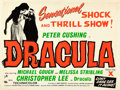 "Movie Posters:Horror, Horror of Dracula (Universal International, R-Early 1960s).Silk-Screen British Quad (30"" X 40"") Day-Glo Style.. ..."