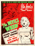 "Movie Posters:Drama, The Devil's Weed (Hallmark, 1950) AKA Wild Weed. Silk-ScreenPoster (30"" X 40"").. ..."