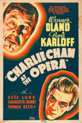 "Movie Posters:Mystery, Charlie Chan at the Opera (20th Century Fox, 1936). Silk-ScreenPoster (40"" X 60"").. ..."