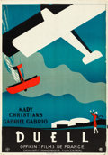 """Movie Posters:Foreign, The Duel (Films de France, 1927). Swedish One Sheet (27.75"""" X 39.5"""").. ..."""