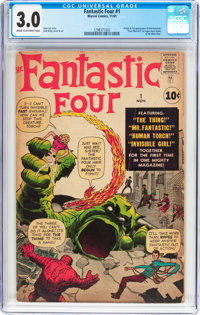 Fantastic Four #1 (Marvel, 1961) CGC GD/VG 3.0 Cream to off-white pages