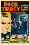 "Movie Posters:Serial, Dick Tracy (Republic, 1937). One Sheet (27"" X 41"") Episode 6 --""Dangerous Waters."". ..."
