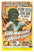 "Movie Posters:Science Fiction, Fire Maidens of Outer Space (Topaz, 1956). One Sheet (27"" X 41"").Albert Kallis Artwork. ..."