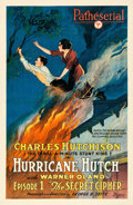 "Movie Posters:Serial, Hurricane Hutch (Pathé, 1921). One Sheet (25.5"" X 39.25"") Episode1-- ""The Secret Cipher."". ..."