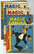 "Golden Age (1938-1955):Miscellaneous, Magic Comics #49-60 Group - Davis Crippen (""D"" Copy) pedigree (David McKay Publications, 1943-44) Condition: Average VF-...."