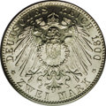 German States:Hamburg, German States: Hamburg. Free City 2 Mark 1900J, 294, MS68 PCGS. Brilliant, frosty white with flawless surfaces and a perfect strike. We fee...