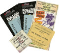 Music Memorabilia:Tickets, Rolling Stones Ticket Stubs. This selection of ticket stubsincludes two for their August 10, 1964 performance at the Tower ...