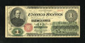 Fr. 16 $1 1862 Legal Tender Fine. A half-inch tear is noticed on the right side along the fold line on this brightly ink...