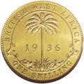 British West Africa: , British West Africa: George V Shilling 1936KN, KM12a, Proof 65 NGC,a choice example from the King's Norton Mint archivescollection....