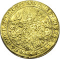 German States:Silesia, German States: Silesia-Liegnitz-Brieg. Georg, Ludwig, and Christian gold 2 Ducats 1658, F-3199, VF details, fields lightly tooled, wavy fla...
