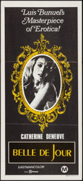 "Movie Posters:Foreign, Belle de Jour (Filmways, R-1970s). Australian Daybill (13.5"" X 30""). Foreign.. ..."