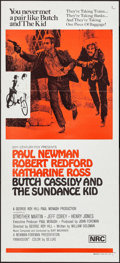 "Movie Posters:Western, Butch Cassidy and the Sundance Kid (20th Century Fox, 1969). Australian Daybill (13.5"" X 30""). Western.. ..."