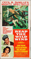 "Movie Posters:Adventure, Reap the Wild Wind (Paramount, R-1954). Three Sheet (41"" X 79"").Adventure.. ..."