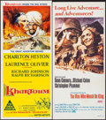 "Movie Posters:Adventure, Khartoum & Other Lot (United Artists, 1966). AustralianDaybills (2) (approx. 13"" X 30""). Adventure.. ... (Total: 2 Items)"