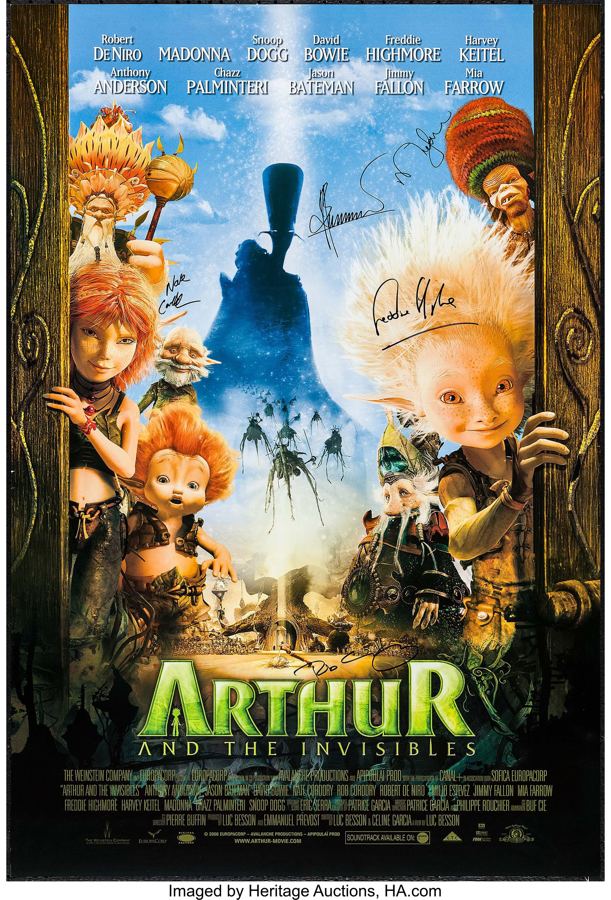 Arthur And The Invisibles Mgm 2006 Autographed One Sheet 27 X Lot 53029 Heritage Auctions