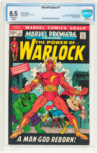 Marvel Premiere #1 Warlock (Marvel, 1972) CBCS VF+ 8.5 Off-white to white pages